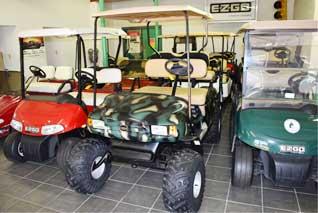 Wide Variety of E-Z-Go Golf Cars